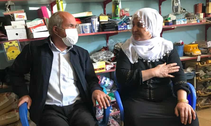 Yusuf Erol, 57, and Naile Erol, 50, in the village of Kuyulu.