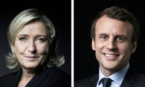 Image result for marine le pen and emmanuel macron