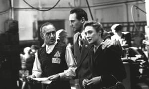 Ben Kingsley, Liam Neeson and Caroline Goodall in a scene from the 1994 film Schindler's List.