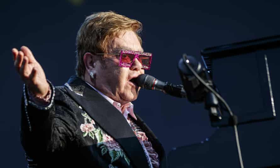 Sir Elton John on stage