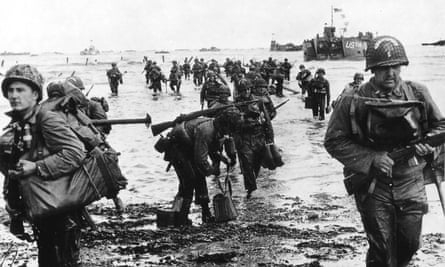 US troops land on Omaha beach on D-day