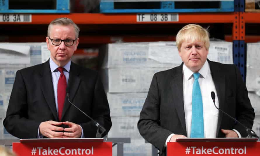 Boris Johnson and Michael Gove address workers at the DCS Manufacturing in Stratford-Upon-Avon.