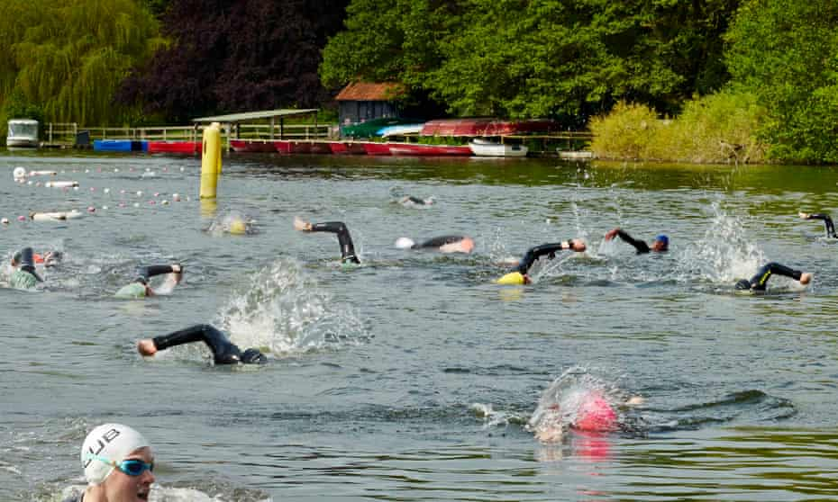 Fritton Lake open water swimming