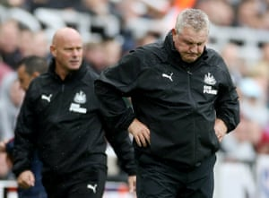 Not the start Steve Bruce wanted as he reacts after Newcastle lose their first game at home 1-0 to Arsenal.