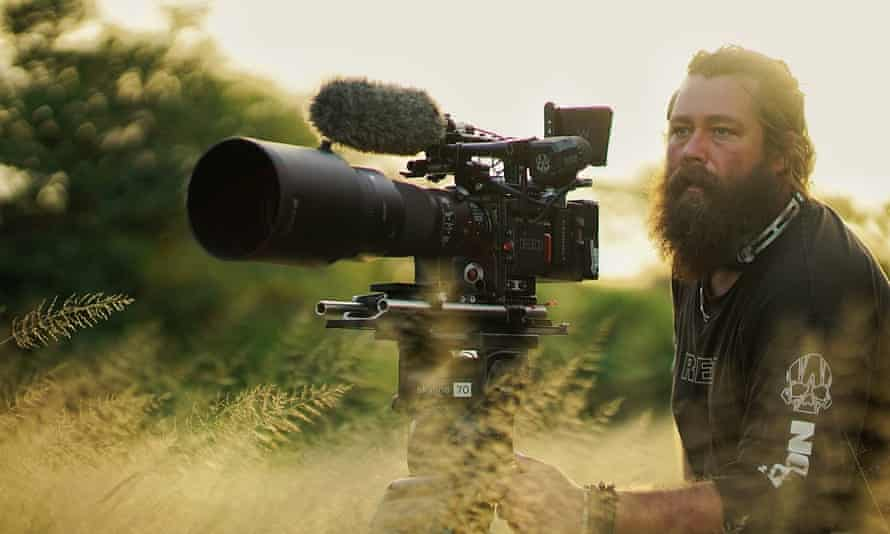 Wildlife photographer Russell MacLaughlin on location in South Africa while on location for The Mating Game.