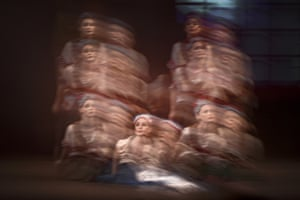 Ballerinas of the National Opera perform during the preview of the comic ballet Coppélia originally choreographed by Arthur Saint-Léon to the music of Léo Delibes