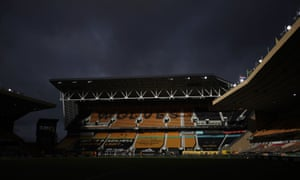 General view the action at Molineux Stadium during the match.