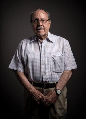 Alfons Canovas, 99, poses for a portrait