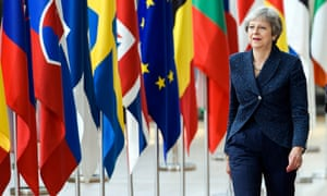 Theresa May arrives at this week's European Council summit in Brussels.