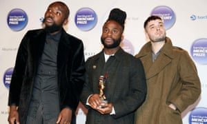 'Relatively unknown but deserving' ... Young Fathers looking nonplussed in 2014.
