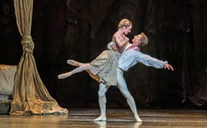 Sarah Lamb (Manon) and Vadim Muntagirov (Des Grieux) in Manon at the Royal Opera House.