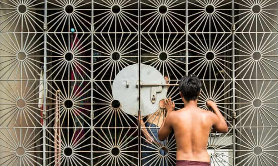 A Yangon street scene.