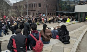 An anti-racism rally at Exeter University