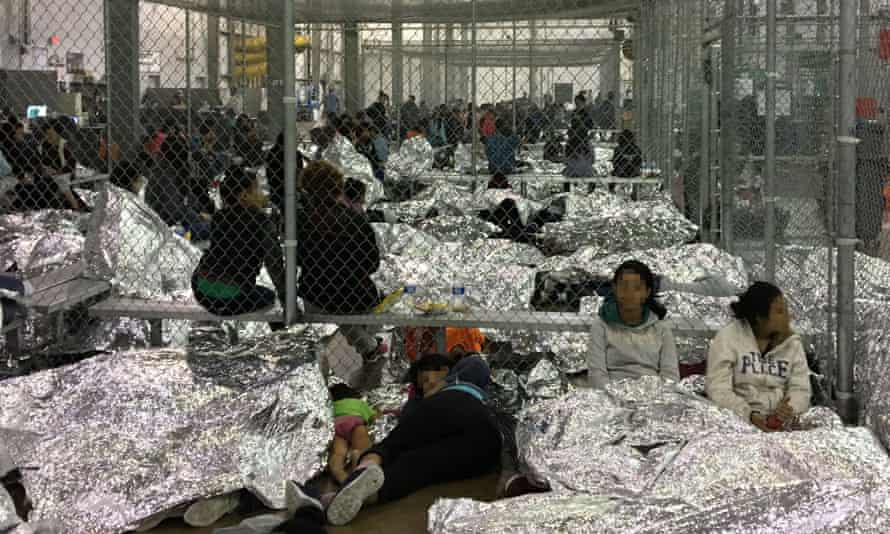 Overcrowding observed by the Office of Inspector General at the border patrol station in McAllen, Texas, on 11 June.