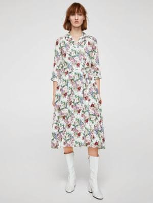 Floral shirt dress, £49.99, Mango.