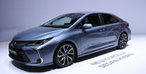 Toyota's Corolla Hybrid. The model is being produced at its Burnaston plant ahead of UK deliveries in March