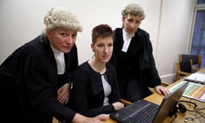 Junior counsel Julie Warburton, CPS crown prosecutor Eran Cutliffe and leading counsel for the prosecution Caroline Haughey.