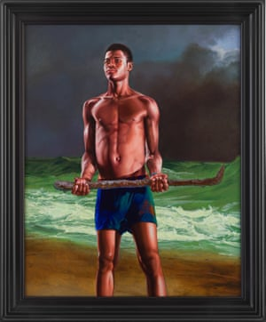 Fishermen Upon a Lee-shore, in Squally Weather (Andielo Pierre) by Kehinde Wiley.