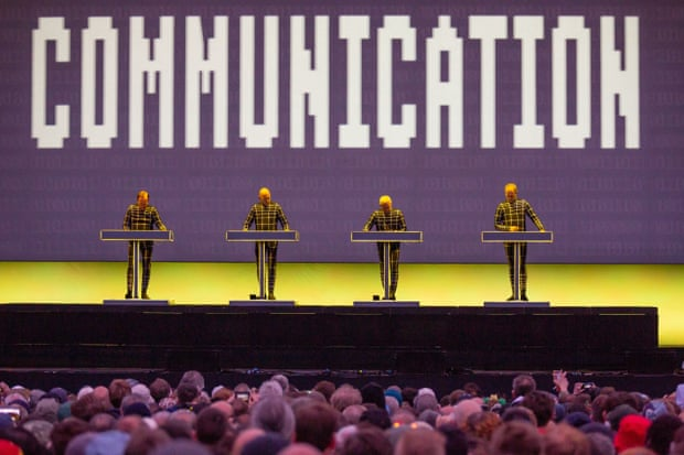 'Utterly pristine' ... Kraftwerk headline the Bluedot festival, 20 July 2019.