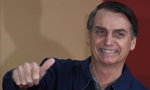 Jair Bolsonaro gives his verdict after casting his vote during the general election.