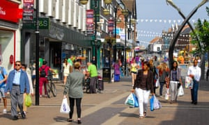 Shoppers in Northampton
