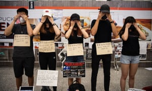 Protesters occupy Hong Kong Chek Lap Kok International Airport in Hong Kong