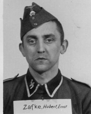Hubert Zafke in his SS days.