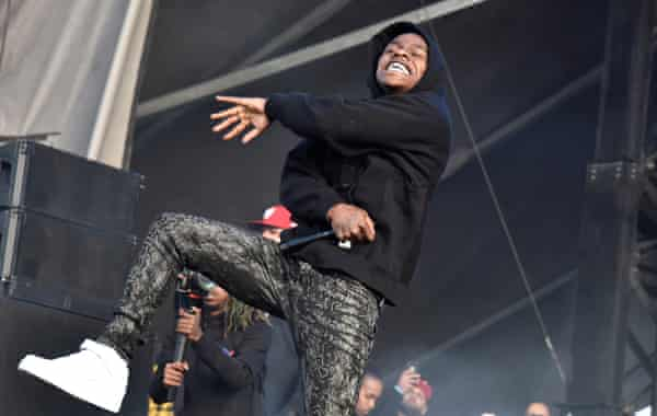 DaBaby performs during the 2019 Rolling Loud festival at Oakland-Alameda County Coliseum.