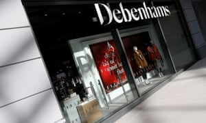 A new Debenhams department store in a shopping centre in Watford, Britain.