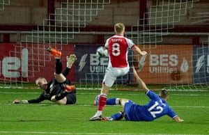Mark Duffy gets one back for Fleetwood.