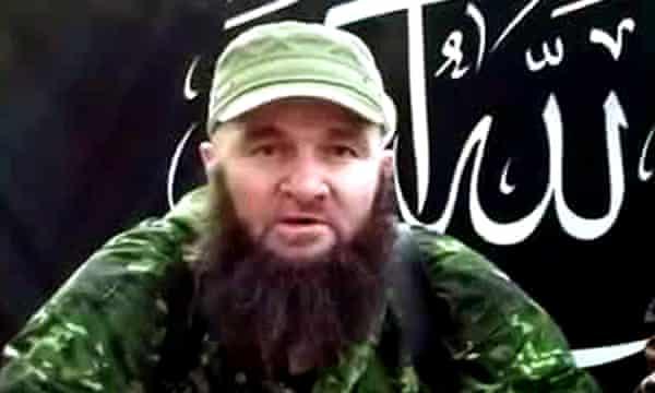 A screengrab from a 2013 video showing Doku Umarov