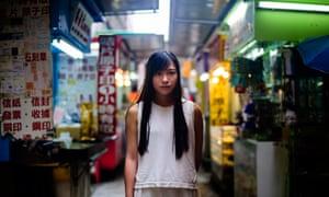 Yau Wai-ching in Hong Kong's Sheung Wan district.