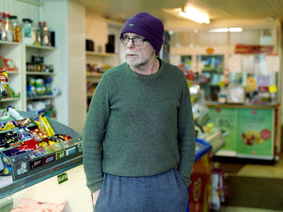 Sean Kealey, McCreesh's general store, Forkhill. South Armagh, Northern Ireland 2017.