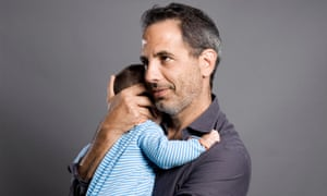 Yotam Ottolenghi with his son Max, born to a surrogate mother in the United States.