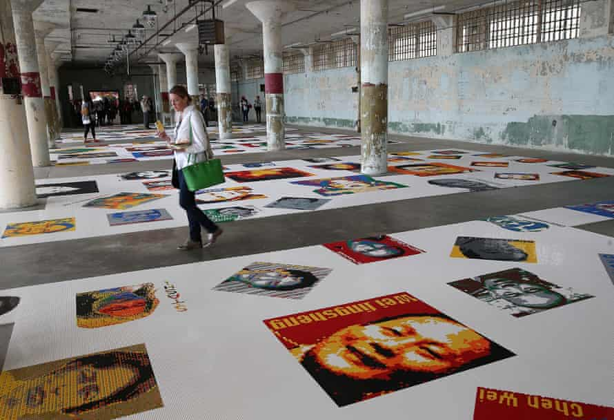 Ai Weiwei's Trace exhibition at Alcatraz.