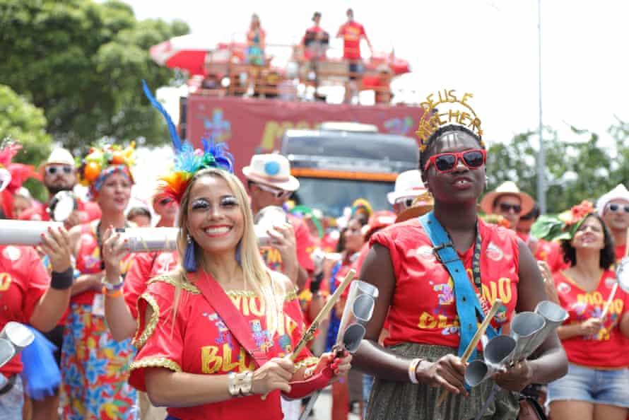 Carnival street band Monobloco