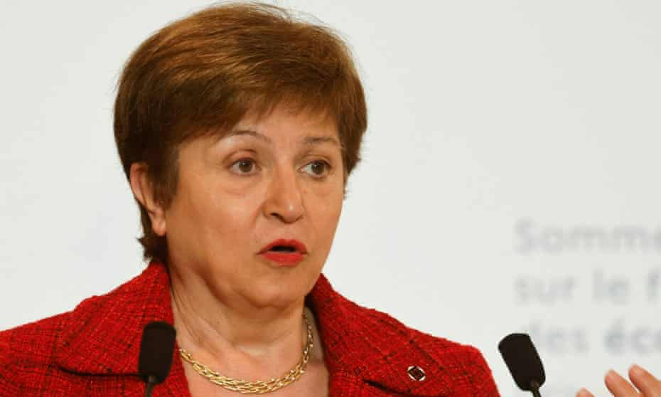 The International Monetary Fund director, Kristalina Georgieva