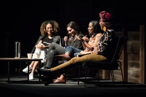 Elaine Welteroth, Durga Chew-Bose, Brit Bennett and Yassmin Abdel-Magied in a panel at the Sydney writers' festival