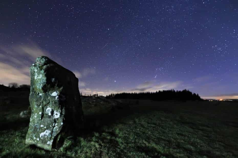 Beaghmore at night, County Tyrone, Northern Ireland.