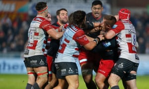 Saracens, facing a 35-points deduction, scrapped away for victory at a hostile Gloucester.