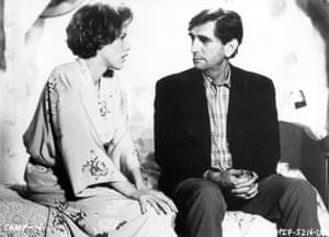 Molly Ringwald and Harry Dean Stanton in Pretty in Pink, 1986