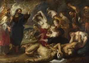 The Brazen Serpent, c 1635-40, by Peter Paul Rubens