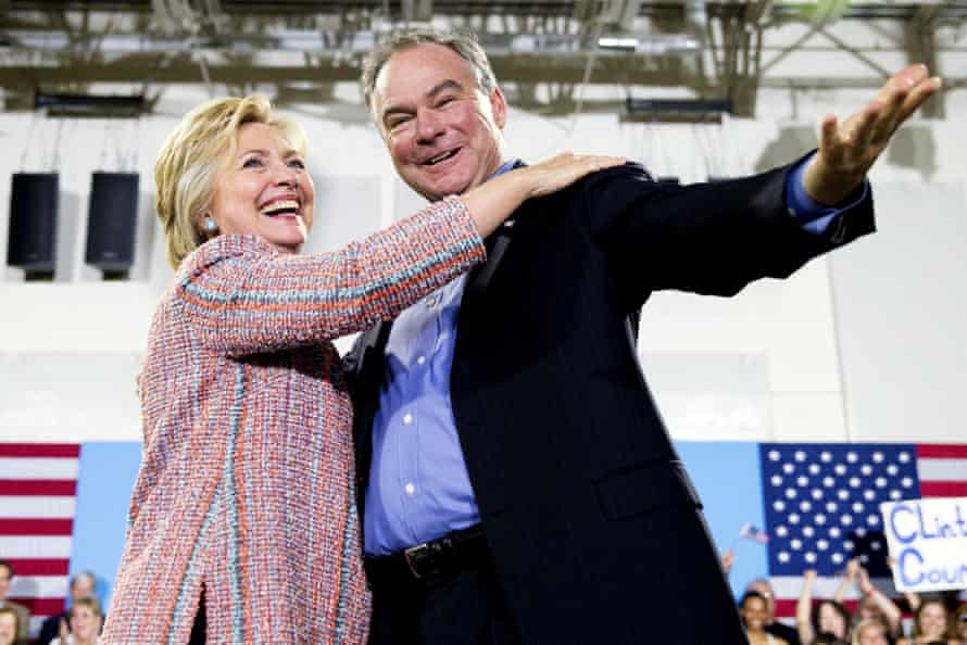 Hillary Clinton and Tim Kaine.