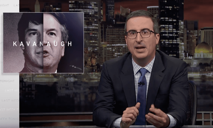 'I hate to say it but I'm starting to think that men might be too emotional for the supreme court' ... John Oliver.