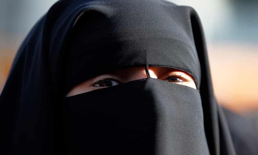 A woman wearing a niqab