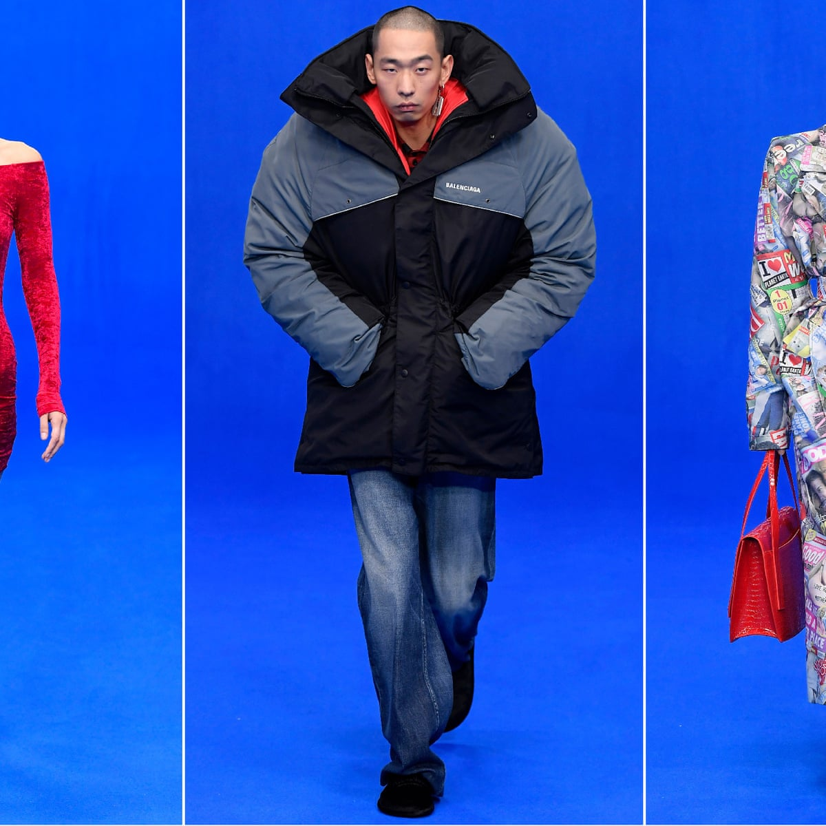 Molti spada appendere  Stranger things: Balenciaga goes for larger-than-life designs | Paris  fashion week | The Guardian