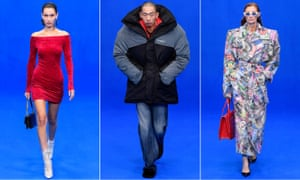 Inflatable puffer jackets and Gru-like silhouettes dominated Balenciaga's catwalk in Paris.