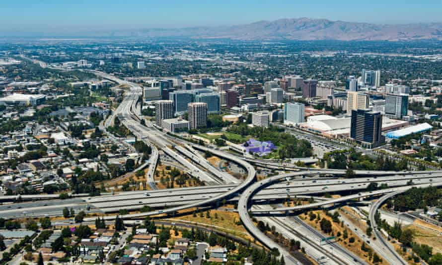 An aerial view of San Jose.