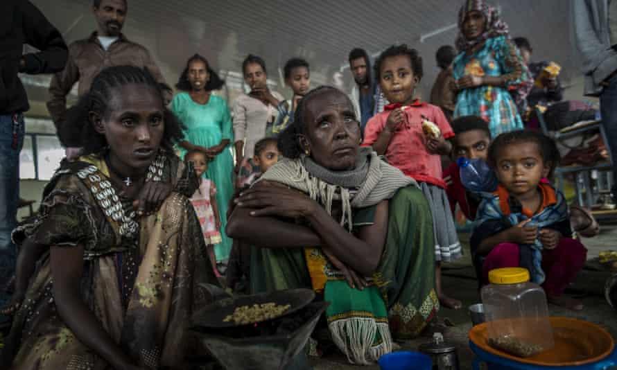 Refugees in Mekele, in the Tigray region of northern Ethiopia