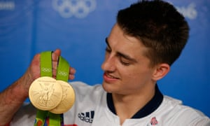 Gymnast Max Whitlock with his two gold medals